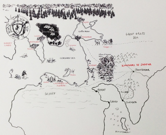 Expanded Parsantium world map